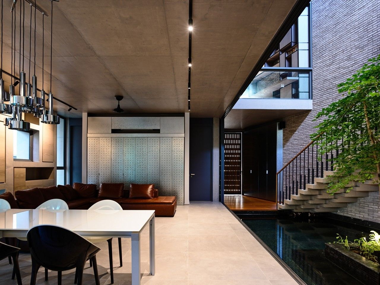 Gallery of surprising seclusion hyla architects scandinavian interior design modern also tranquil house  brutalist tour de force in suburban japan jaw rh pinterest