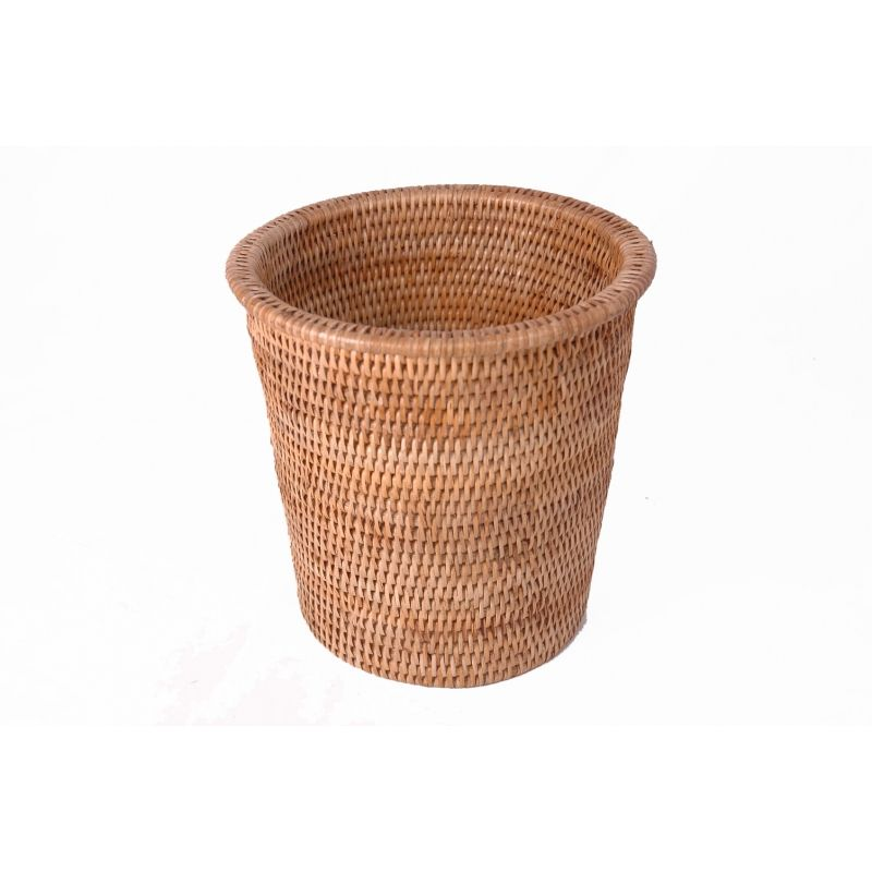 The Plain Weave Rattan Bin Is A Natural And Decorative Waste Paper