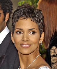 Halle Berry Short Curly Hair : halle, berry, short, curly, Halle, Berry, Short, Straight, Hairstyle, Hairstyles,, Hair,, Haircut