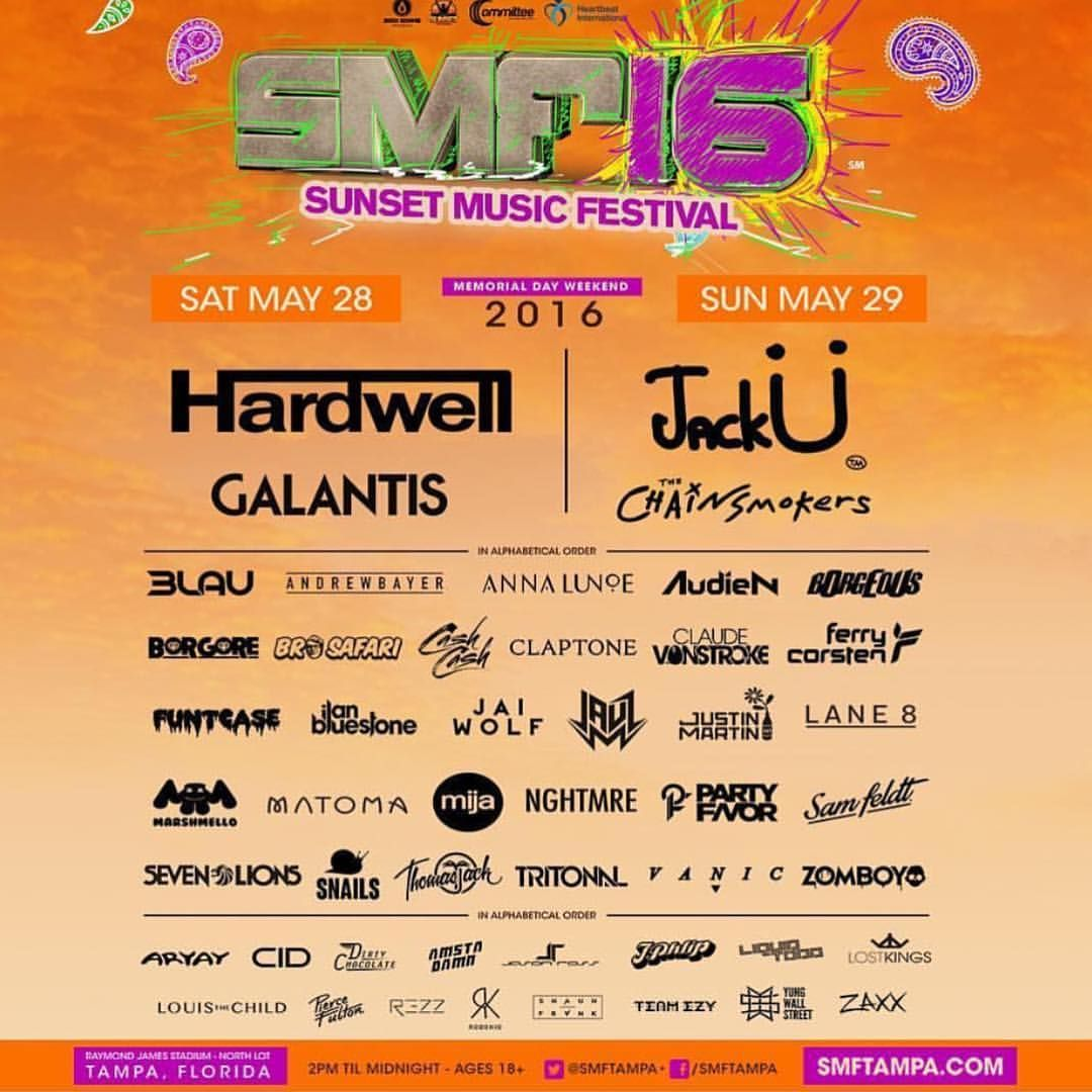 Musicfests365 On Instagram Sunset Music Festival Get 5 Off W Promo Code Mf365 At Checkout Smftam Sunset Music Festival Music Festival Festival