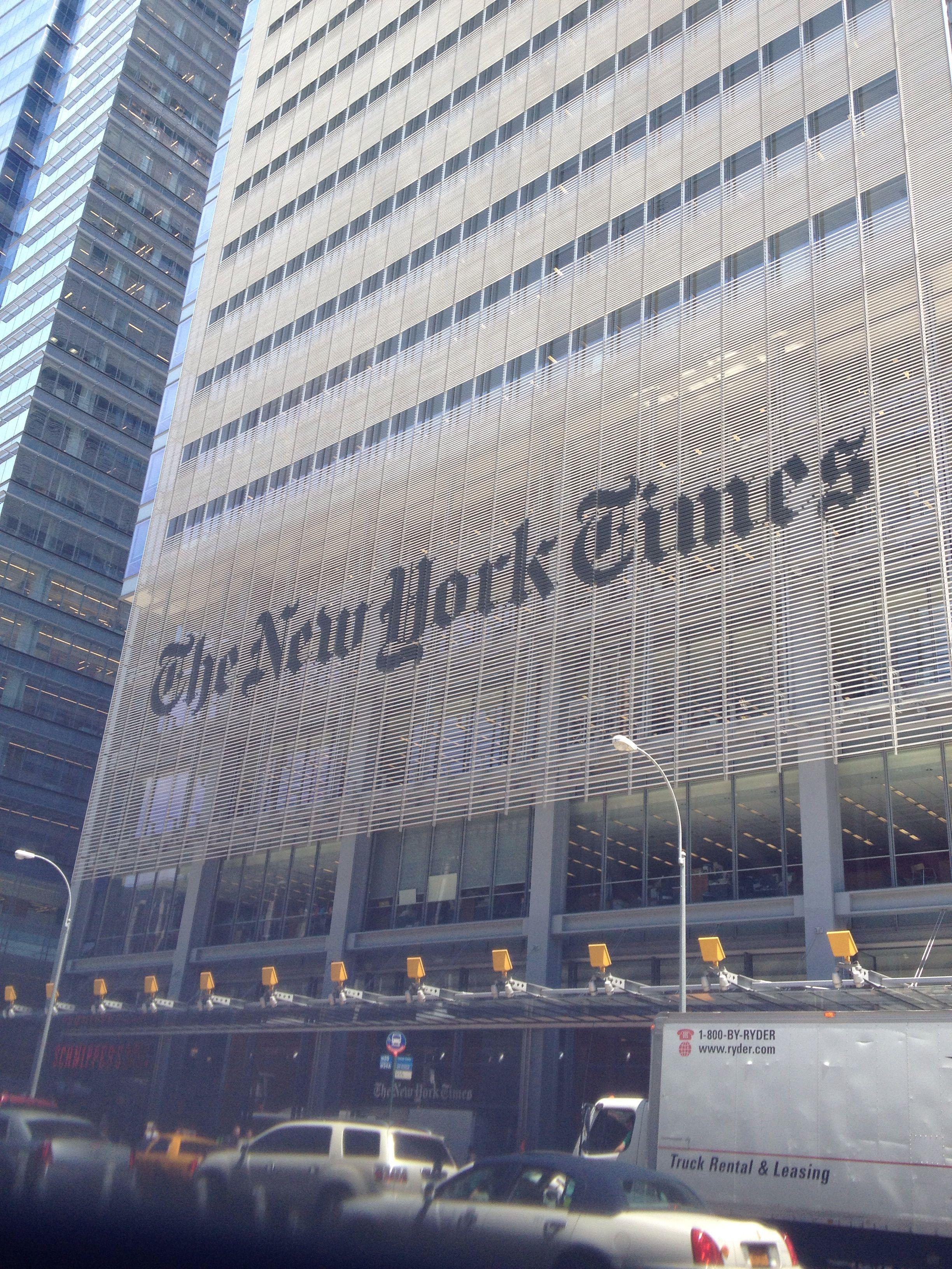 No famoso bairro do Time Square fica localizado o principal jornal de NY!