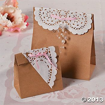 Shabby Chic Favor Bagsput These On Each Place Setting W A Personalized
