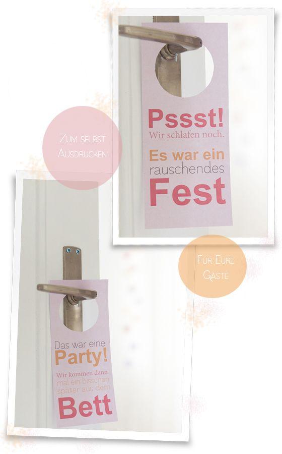 DIY Trschilder zum Ausdrucken fr Eure Hochzeitsgste