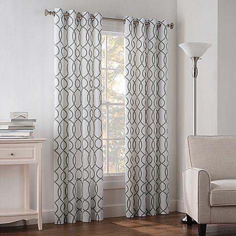 Newport Wave 63 Inch Light Filtering Grommet Top Window Curtain