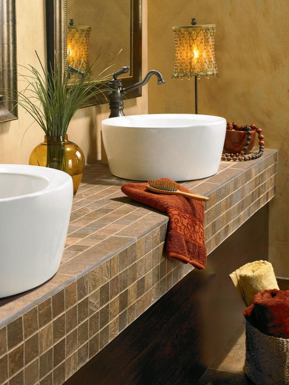 Tile Bathroom Countertops Popular Countertop Materials And - White bathroom countertop material for bathroom decor ideas