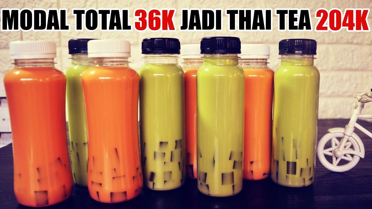 Bongkar Resep Premium Thai Tea Green Tea Jelly Tips Trik Youtube Minuman Smoothies Minuman Resep Minuman