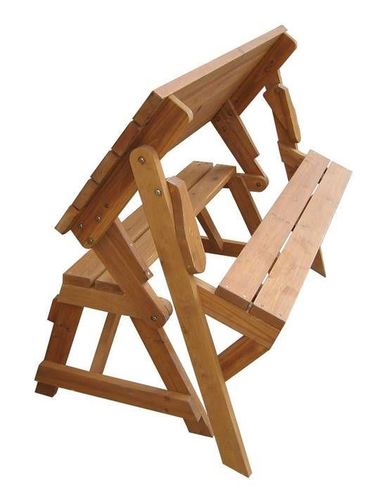 Creative Ideas Diy Folding Bench And Picnic Table Combo
