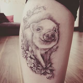 Watercolor pig tattoo google search fun tattoos for Rob dyrdek tattoo relentless