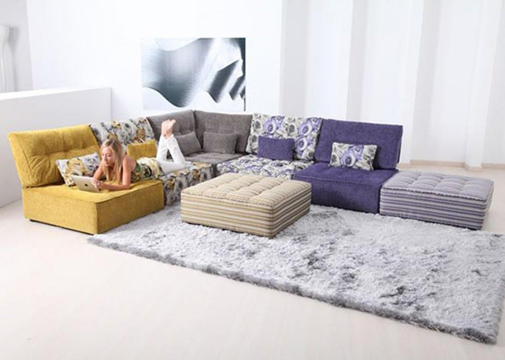 Furniture Image Gallery For L Shape Modular Couch With Grey And Purple Also Living Room Without Sofa Living Room Seating Ideas Without Sofa Modular Sofa Design
