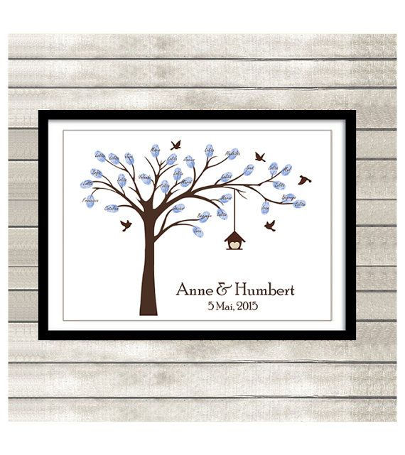 Baby Shower Printable Thumbprint Tree Guest Book by ByYolanda, €15.00
