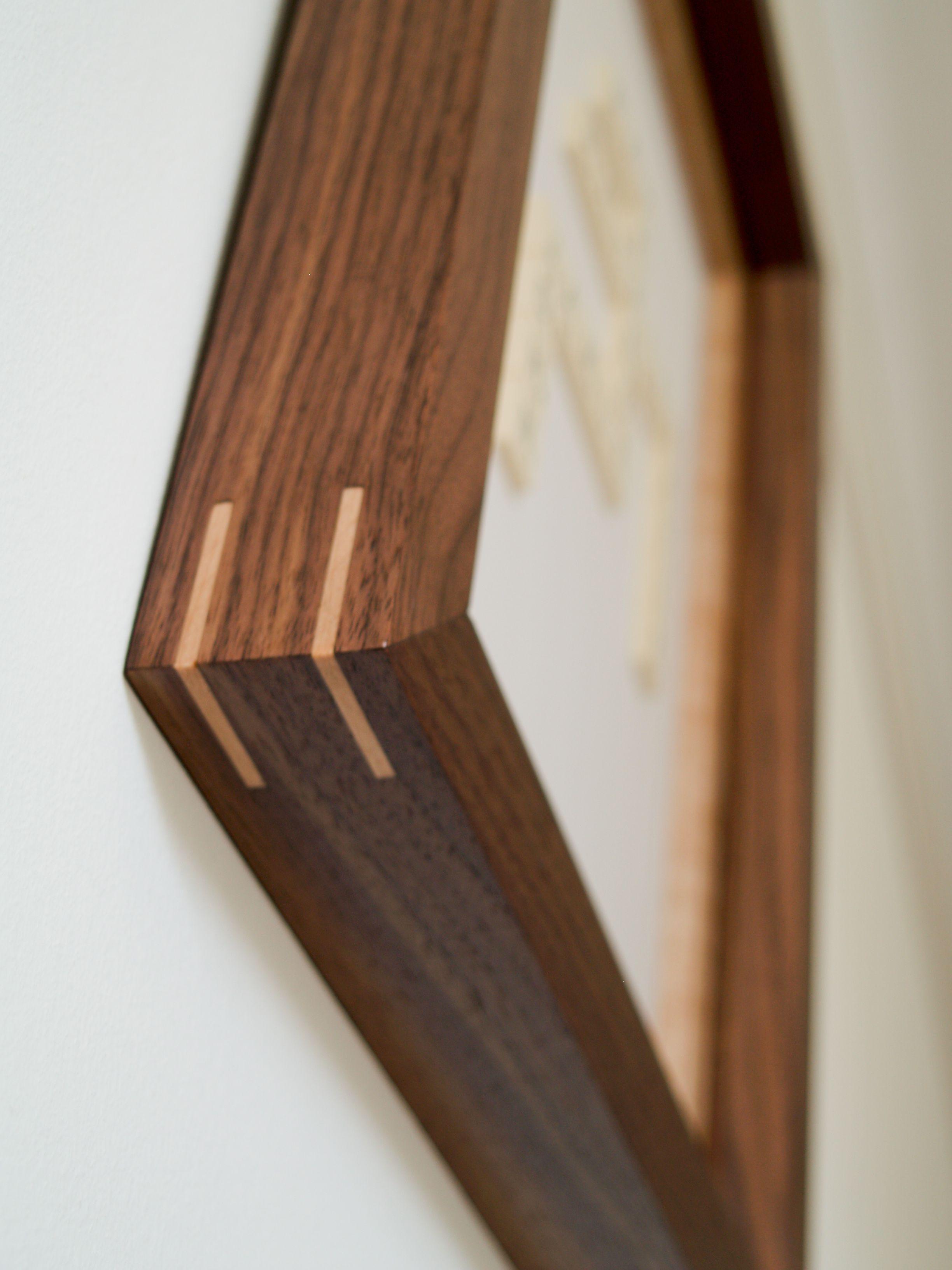 Walnut And Birdseye Maple Hand Made Wood Picture Frame Made By Soulwood Wood Picture Frames Wooden Picture Frames Picture Frame Designs