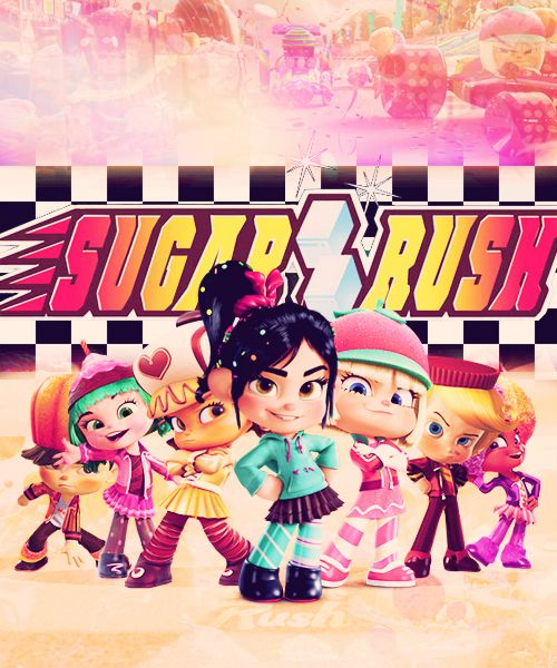 Sugar Rush Logo Sugar Rush Wreck It Ralph Rush Games