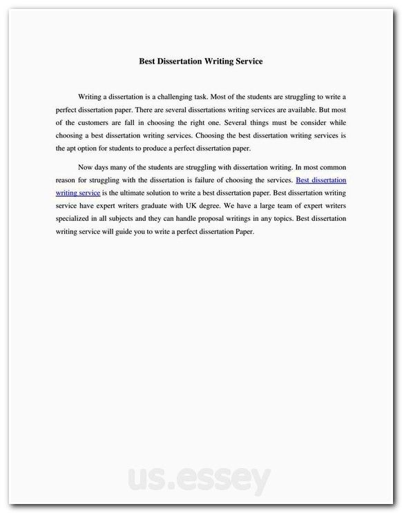 Master degree essays