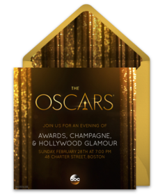 Online invitations from party invitations an exclusive collection of free oscars party invitations we love this design for a glamorous stopboris Choice Image