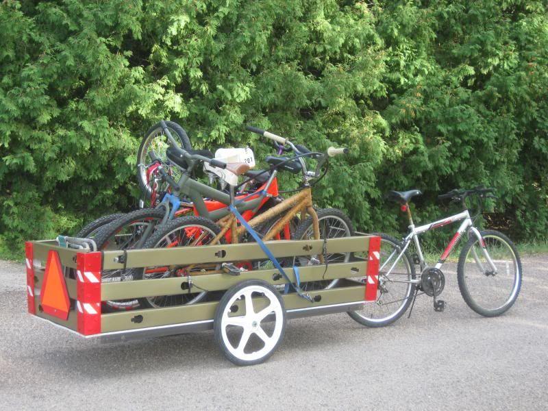 Long Trailer 2 Bike Trailer Bicycle Trailer Bike Cargo Trailer