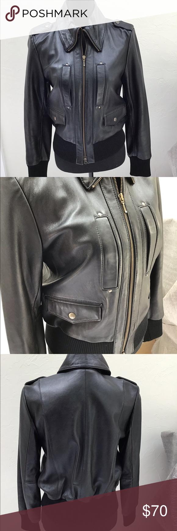 Inc Black Leather Jacket Leather Jacket Black Leather Jacket Jackets [ 1740 x 580 Pixel ]