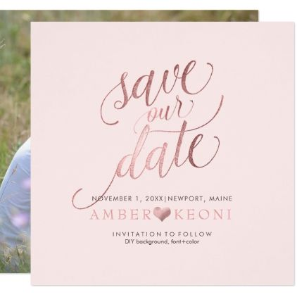 Pixdezines Save Date Faux Rose Gold Diy Background The