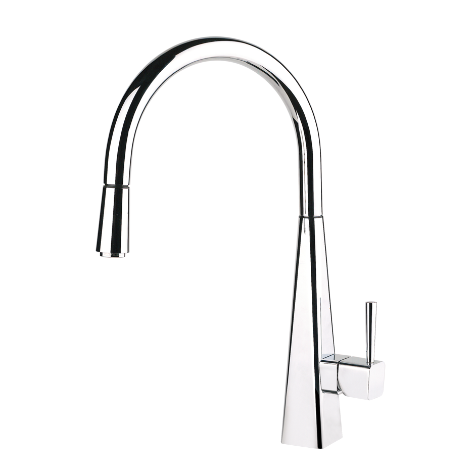 Gessi\'s pull down faucet offers flowing elegance and grace in the ...