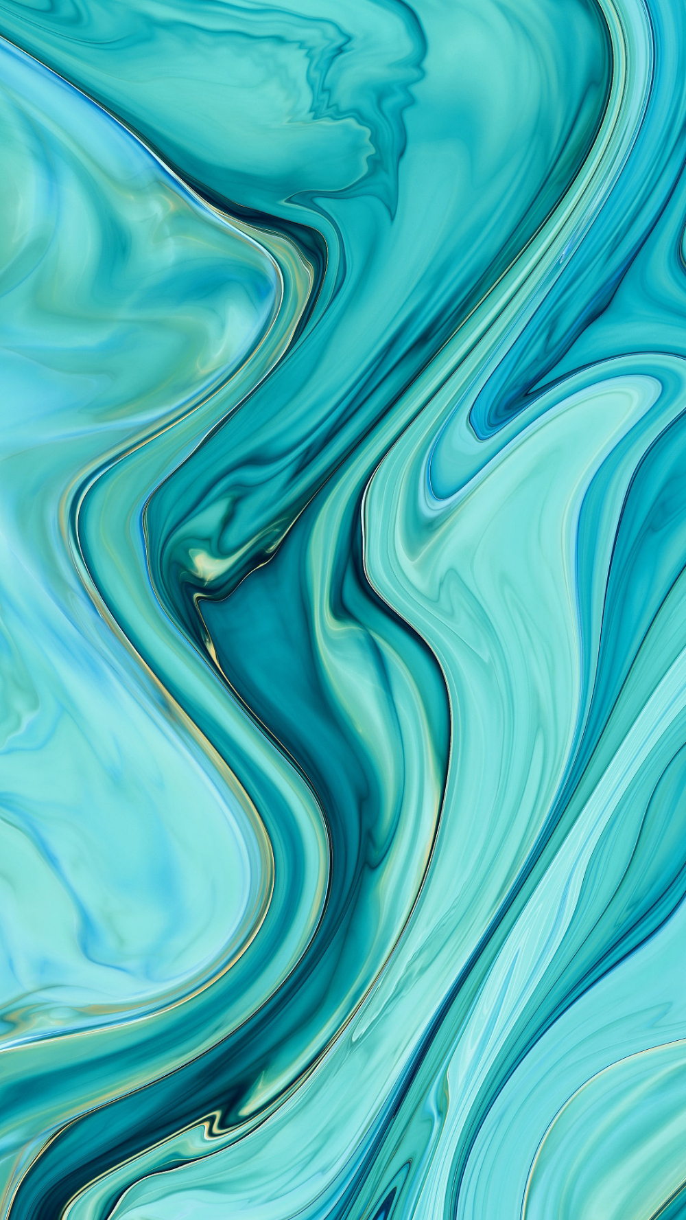 iPhone blue green winding gradient visual Abstract