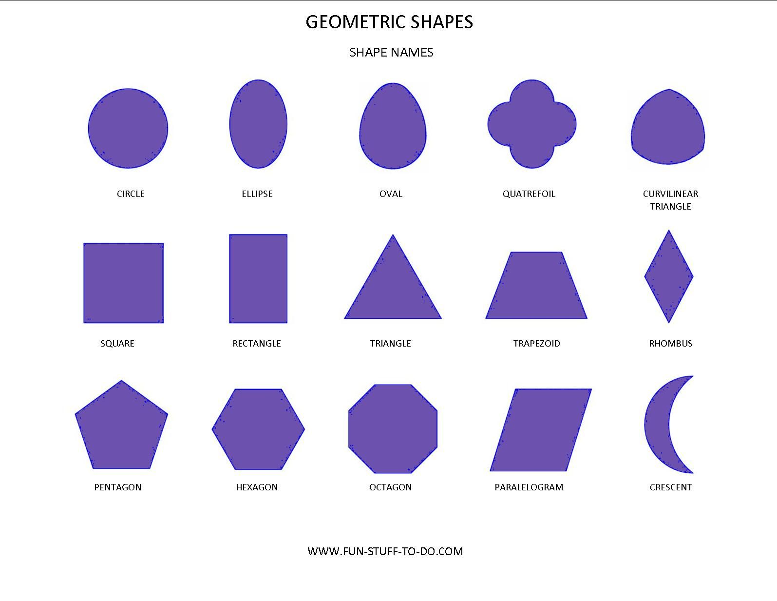 Geometric Shapes And Names What Is Most Interesting To Me