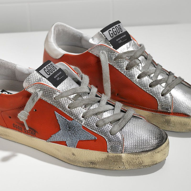 SUPER STAR sneakers in leather with suede star, Golden Goose Deluxe Brand