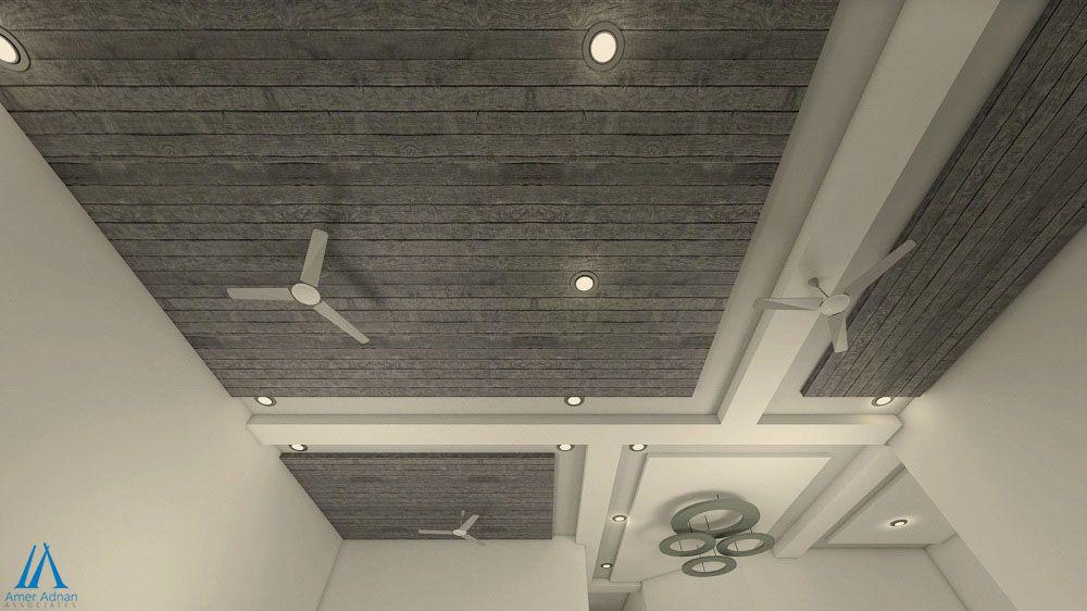 3D Ceiling Design Idea by Amer Adnan Associates | Entrance ...