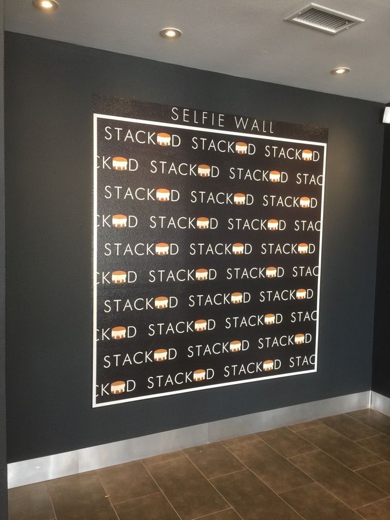 Selfie Wall Printed Vinyl For Stacked Ice Cream In Katy Texas