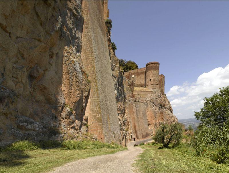 Orvieto, Fortezza Albornoz. Presidio per le forze papali fino all'unità d'Italia