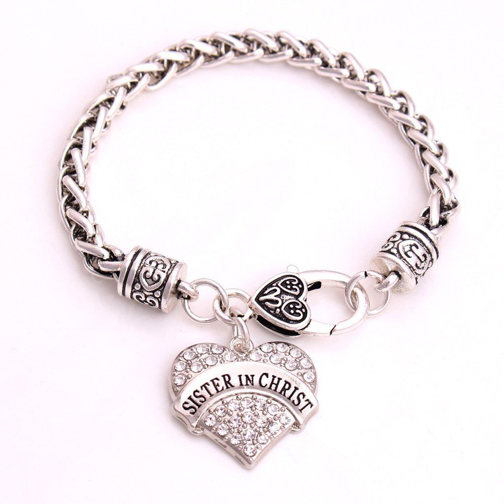 Our Sparkling Heart Bracelet Makes A Great Gift For Your Sister In Christ Purchase Two To Show That Connection The Both You Have Together