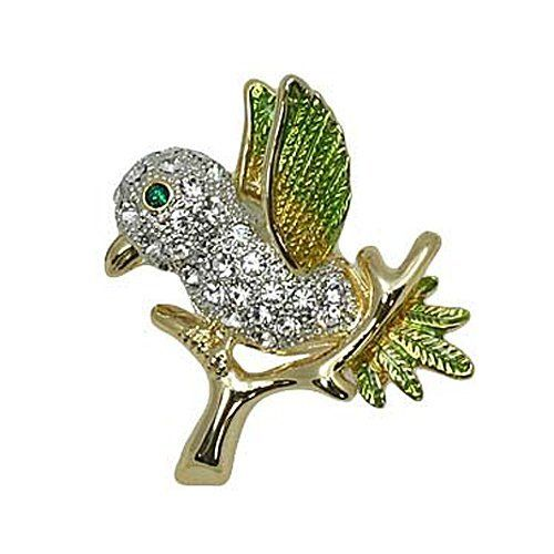 Goldtone Clear Crystal Bird Brooch Pin Fashion Jewelry PammyJ Brooch Pin. $16.99. SPARKLING RHINESTONES. NICKEL AND LEAD FREE. GORGEOUS FOR GIFTS. BRAND NEW. COMES IN FOIL GIFT BOX
