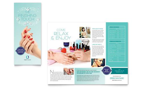 nail technician brochure template design by stocklayouts - Nail Brochure Templates Free