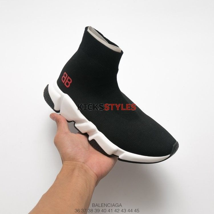 809f0b73273b Mr. Porter x Balenciaga Speed Trainer  Black Red