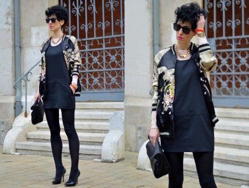 Zara bomber jacket.