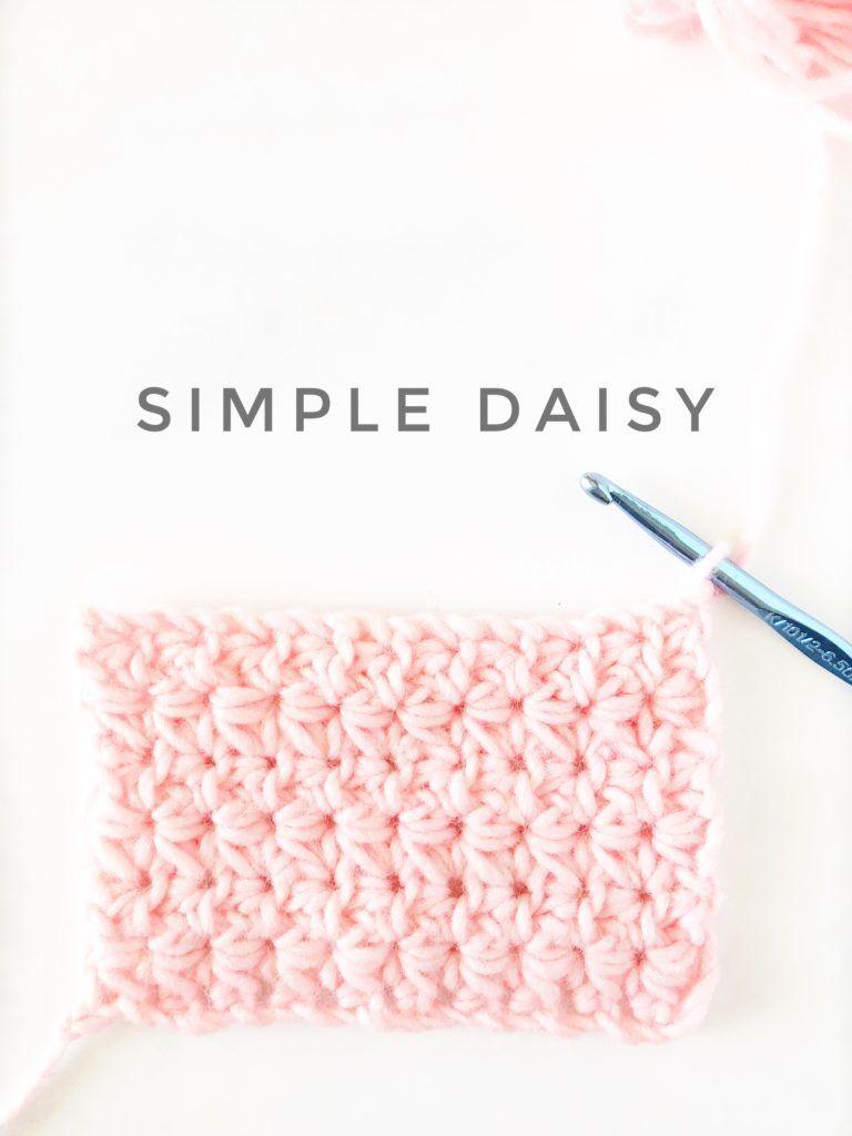 crochet simple daisy stitch. Free crochet tutorial | aCrochet ...