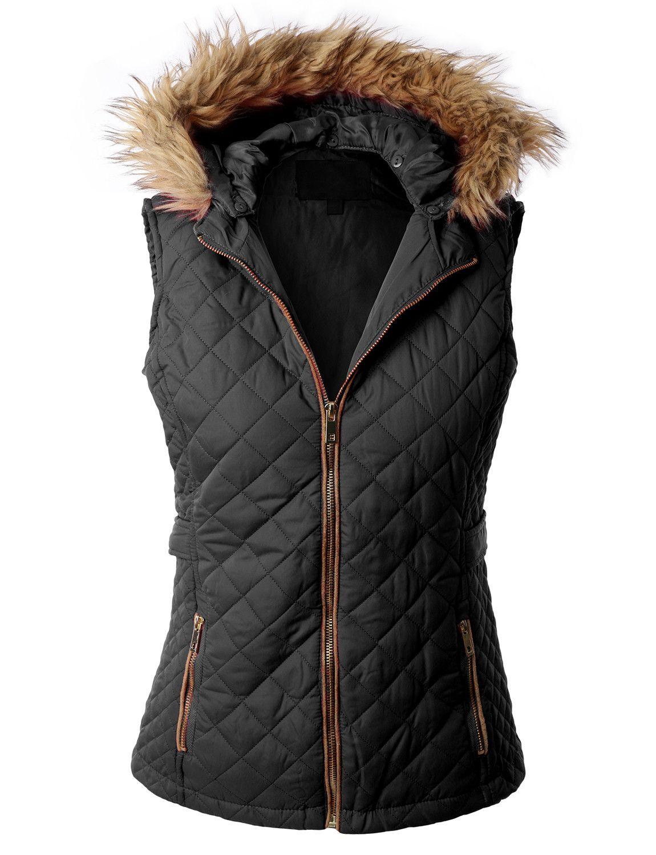 Quilted Puffer Jacket Vest With Detachable Hoodie Clearance Womens Puffer Vest Quilted Puffer Jacket Fleece Vest Women [ 1500 x 1150 Pixel ]