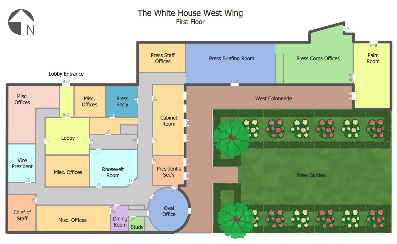 White House West Wing 1st Floor In 2020 Floor Plans Floor Layout How To Plan