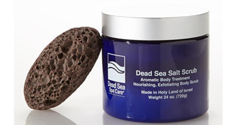 24 oz Dead Sea Salt Scrub and Pumice Stone Set | ToAdorn.com