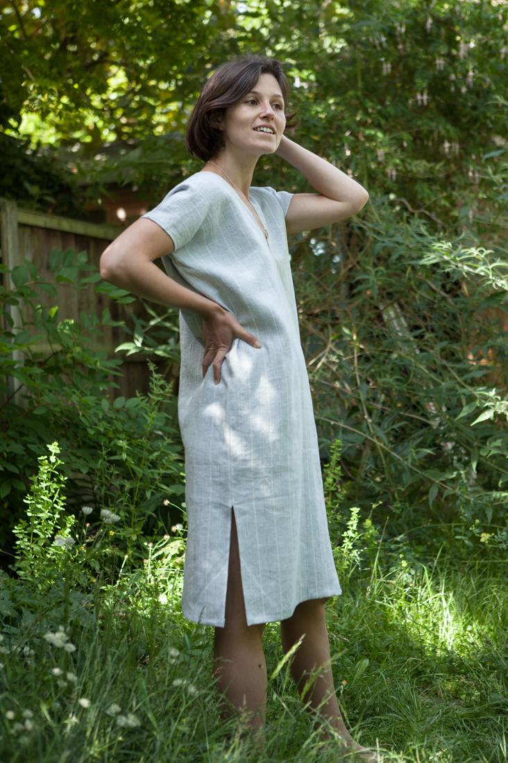 Linen kaftan dress tutorial   Tutorials   Pinterest   Sommer und Nähen
