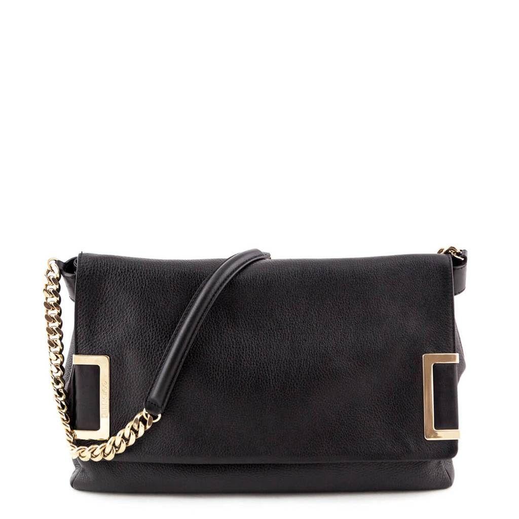 659bcba631b1f Jimmy Choo Black Ally Shoulder Bag - LOVE that BAG - Preowned Authentic  Designer Handbags -