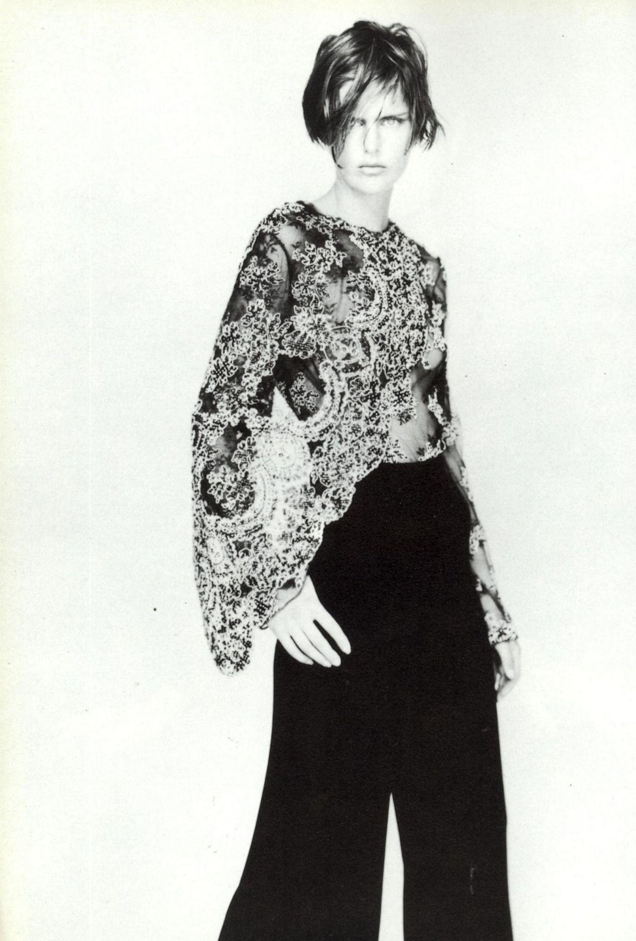 Stella Tennant for Giorgio Armani, photo by Paolo Roversi