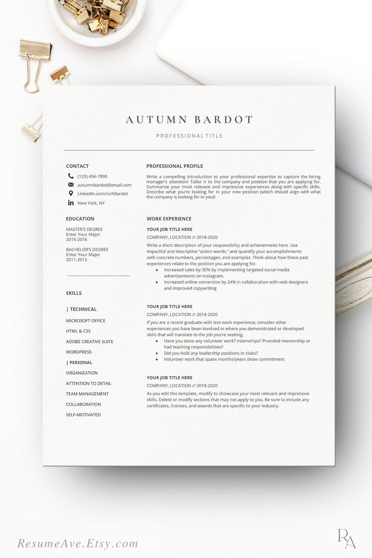 Professional google docs resume minimalistic resume