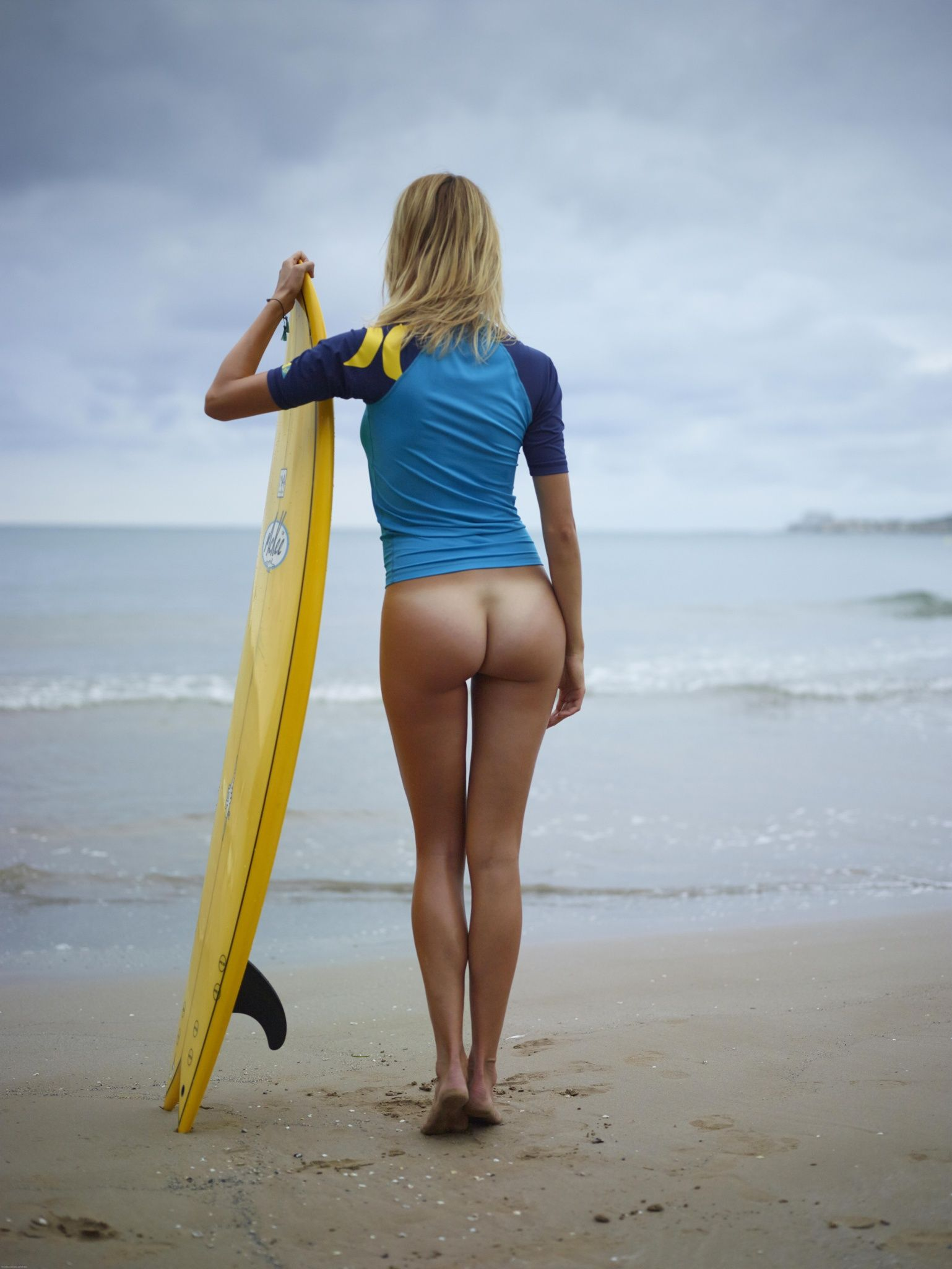 girls surfing naked with bikini