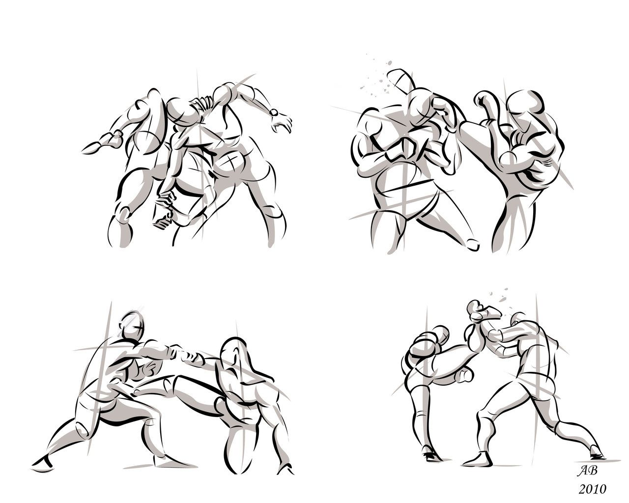 Fighting poses in photoshop01 by alexbaxthedarkside deviantart com on deviantart