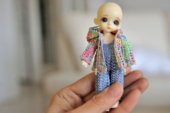 Set for Lati White SP (12 cm): coat, pants Doll is not for sale