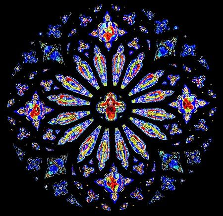 Stained Glass Scrap Afghan Pattern Cathedral Rose Window Afghan