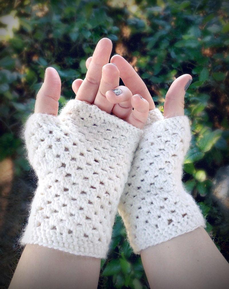 Guantes sin dedos delicados ganchillo (Un Modelo Libre) - ganchillo ...