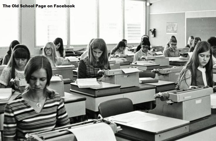 The Old School Page remembers Typing classes in school
