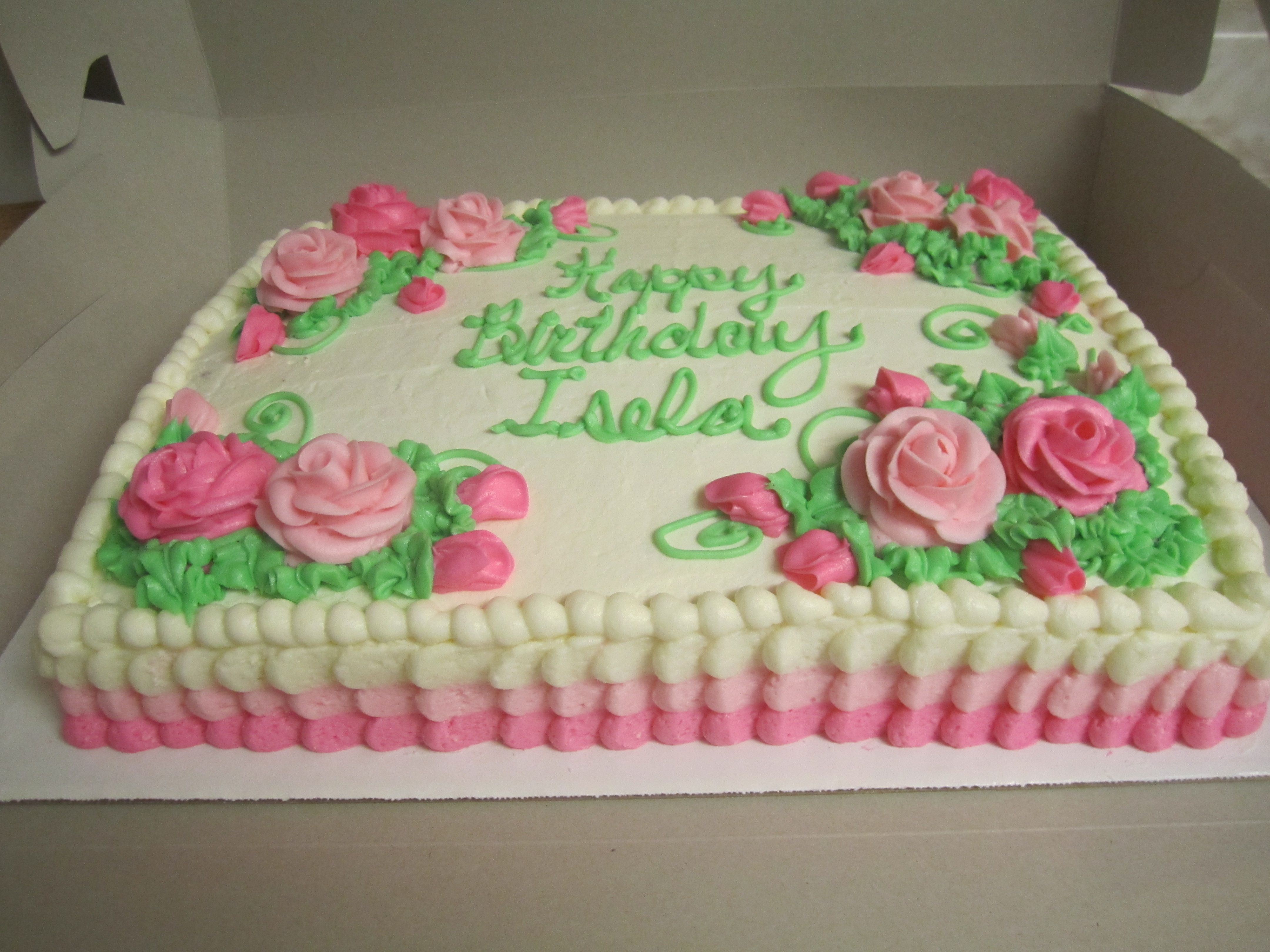 Decorated 1 2 Sheet Cake By Think Sweet Cakes By Trisha Simple