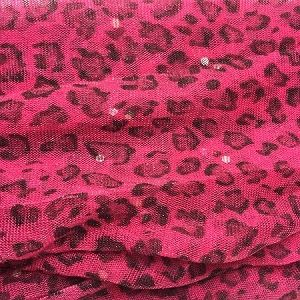 Hot Pink Leopard Print Scarf