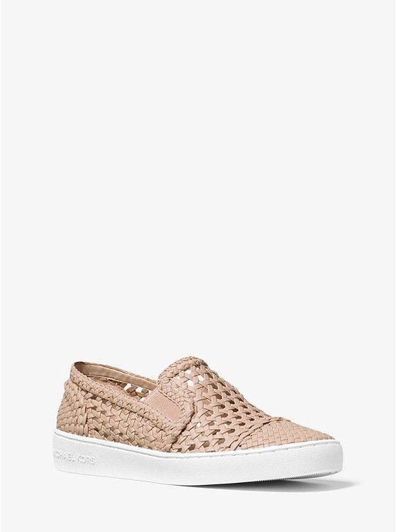 Desi Woven Leather Slip On Sneaker Michael Kors Kate